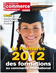 Le palmares 2012 des formations au commerce international